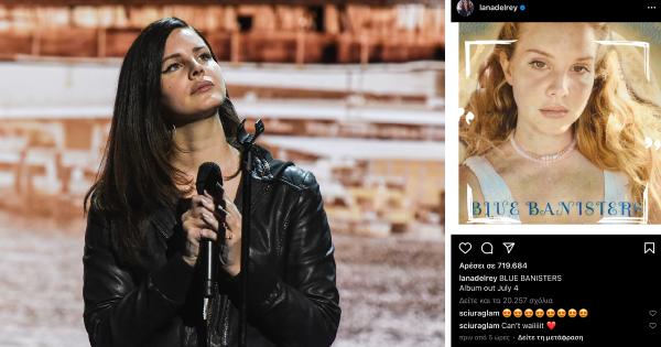 Η Lana Del Rey ανακοίνωσε το νέο άλμπουμ της, «Blue Banisters». Το LP αναμένεται να κυκλοφορήσει τον Ιούλιο.
