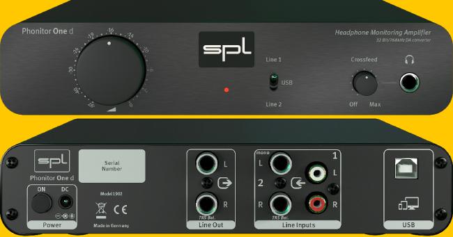 SPL Phonitor One D. Ενισχυτής ακουστικών/DAC