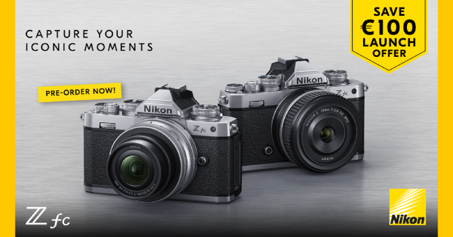 """LAUNCH OFFER"" με άμεση επιστροφή χρημάτων σε αγορές mirrorless φωτογραφικής μηχανής ή kit ΝΙΚΟΝ Z fc."