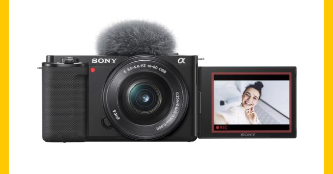 Νέα Vlog Camera ZV-E10 από τη Sony, με εναλλάξιμους φακούς για Vloggers και δημιουργούς βίντεο.